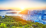 Hong Kong beautiful sunset