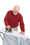 Man Doing Ironing