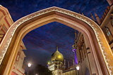 Sultan Mosque Gateway Blue Hour