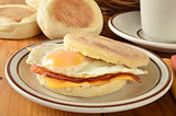Bacon and egg muffin sandwich