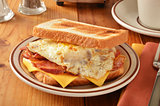 Bacon egg and cheese sandwich