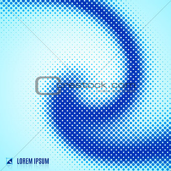 abstract blue background with spiral vortex