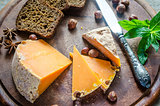 Mimolette with hazelnuts