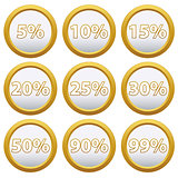 Gold Icons with percent