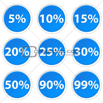 Circle Icons with percent