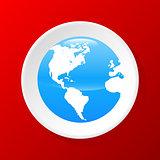 3d Globe icon