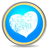 Grunge heart icon