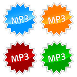 Mp3 icons set