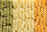 Fusilli pasta italian flag