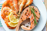 Salmon & shrimps