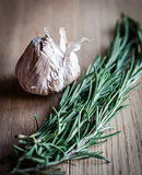 Garlic & rosemary