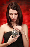 girl with decoration ball
