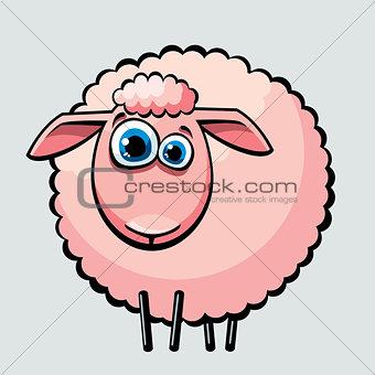 Cartoon sheep.