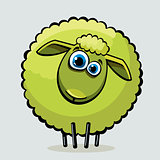 Cartoon sheep.