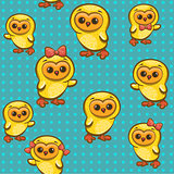 Pattern with chickens.