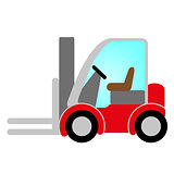 red forklift truck icon