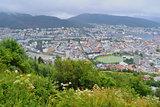 Norway. Top-view of Bergen