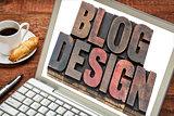 blog design on a laptop