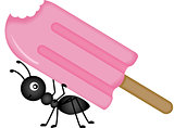 Ant Carrying Ice Cream Stick