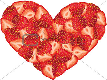 Strawberry Heart Shaped