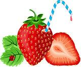 Strawberry with Straw
