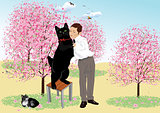 Tango with a black cat