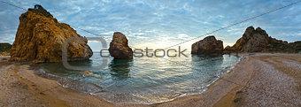 Potistika beach sunrise panorama (Greece)