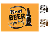 Best Beer - enjoy tasty - poster