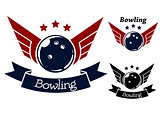 Bowling symbols with wings