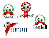Set of football or soccer emblems