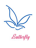 Stylized butterfly icon