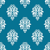 Floral seamless pattern with white elements