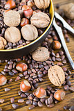 Mix nuts - walnuts, hazelnuts, pinenuts