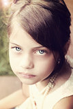 Retro Young Beautiful Girl
