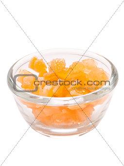 candied orange citrus peel isolated