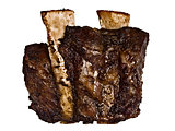 bbq beef short rib isolated