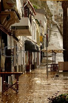 Rainy Wet Street