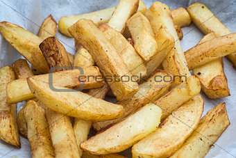 Hand cut tasty potato chips fries