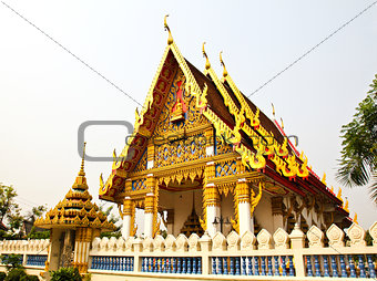 Beautiful Thai Temple , Bangkok,Thailand.