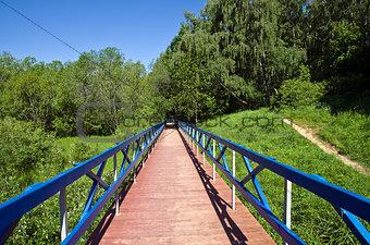 Footbridge in Forest Park.