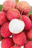 bunch of fresh lychee