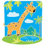 Little funny giraffe