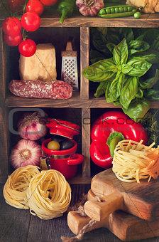 Food ingredients.