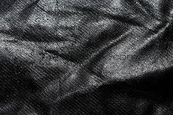 Black fabric background