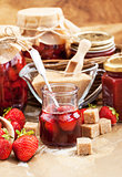 Homemade strawberry jam