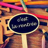 c'est la rentree, back to school written in french