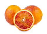 Ripe blood red orange