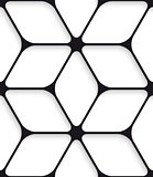 Black hexagon net seamless pattern