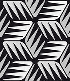 Gray 3d cubes striped with black seamless pattern