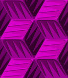 Pink 3d cubes with embossed texture seamless pattern